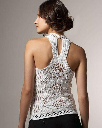 oscar de la renta crochet top 400x500 Designer Crochet: Oscar de La Renta
