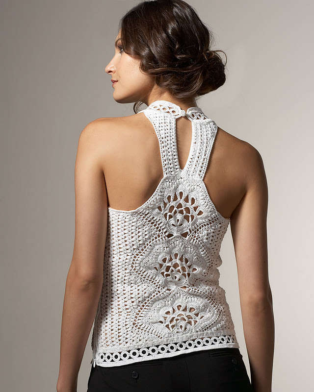 love this stylish crochet top from the brand