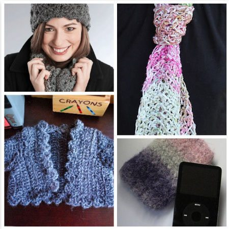Post image for Small Projects, Large Hooks! 15 Quick Free Crochet Patterns for Holiday Gifts