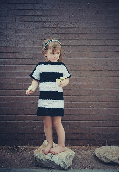 striped crochet dress pattern 15 Beautiful Free Crochet Patterns for Girls Dresses