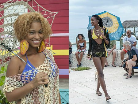 umbrella crochet Bahamian Actress Launches Crochet Line