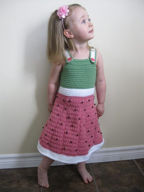 watermelon crochet dress