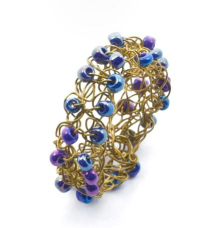 wire crochet ring 2008 Alessandra Stabili Wire Crochet Jewelry