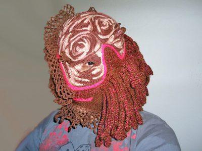 aldo lanzini crochet mask 400x299 Wild Crochet Mask Art From Huckleberry Delsignore