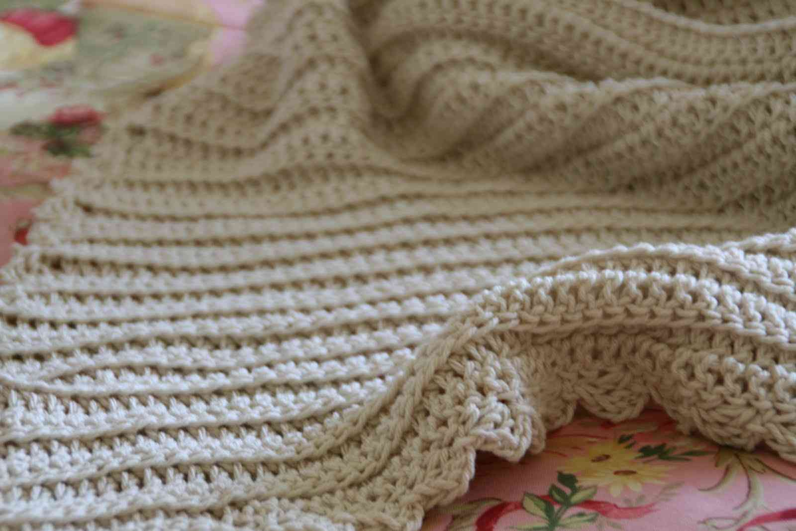 ... blanket 400x266 15 Most Popular Free Crochet Baby Blanket Patterns