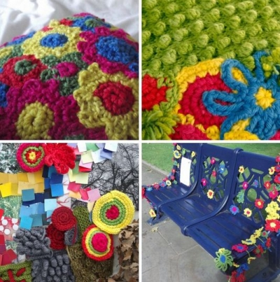 crochet artist furniture 400x403 2012 in Crochet: Crochet Art and Artists