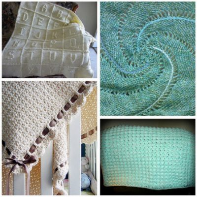 crochet baby blanket patterns 400x400 Crochet Blog Roundup: November in Review