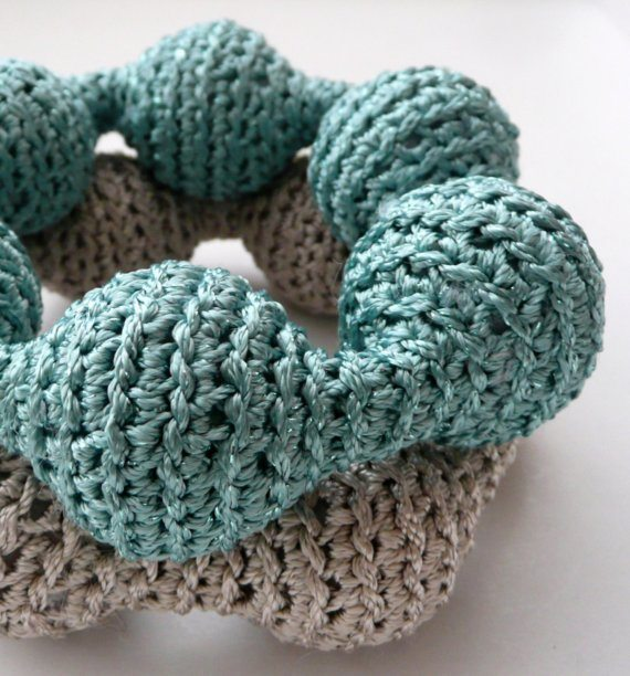 crochet bracelets Unique Crochet Jewelry and More from Etsy Artist Asta