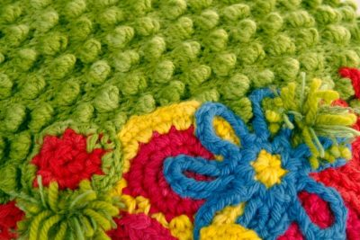 crochet covered art furniture 400x267 Upcycling Knit and Crochet Artist Samantha Claire Wilson