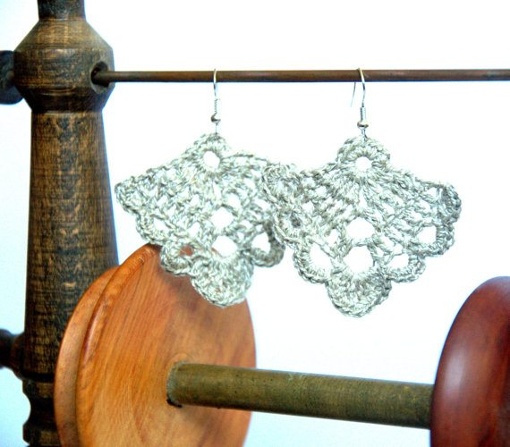 crochet earrings Unique Crochet Jewelry and More from Etsy Artist Asta
