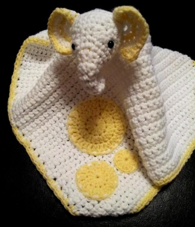 crochet elephant lovey blanket free pattern