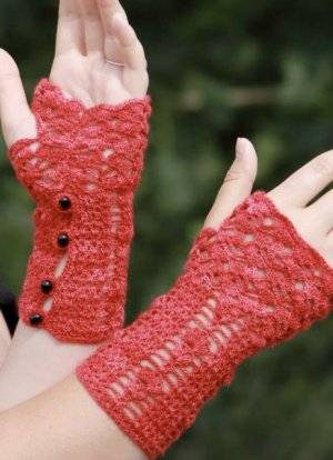 crochet fingerless gloves Stitch Red Crochet Patterns
