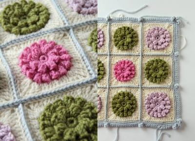 crochet flower squares 400x290 Hot Crochet Link Love From The Week