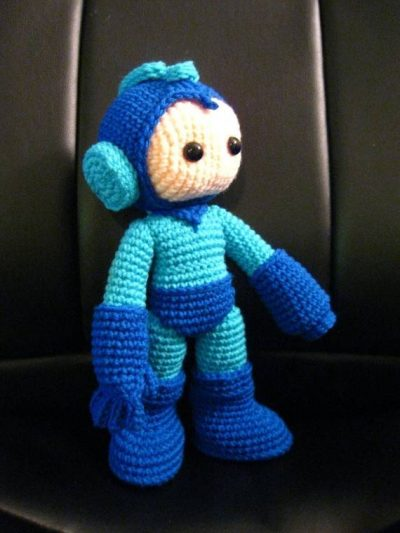 crochet megaman 400x533 Then and Now in Crochet (11/11   11/17)