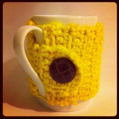 crochet mug cozy 400x400 Upcycling Knit and Crochet Artist Samantha Claire Wilson
