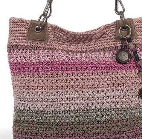 Le Sak Crochet Bags : DIY Learn To Crochet Ruffle Yarn Purse Hand Bag Tote