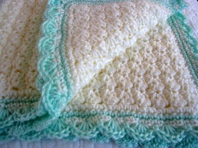 Dainty Carriage Set - Crochet Baby Blanket - Free Vintage Crochet