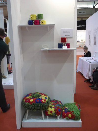 crochet stools 400x536 Upcycling Knit and Crochet Artist Samantha Claire Wilson