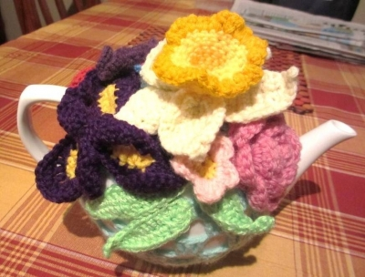 crochet tea pot cozy 400x304 Crocheting Through Chronic Fatigue (Debbies Story)