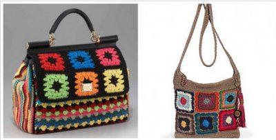 designer granny square bags 400x203 Crochet: 2011, 2012, 2013 (1/14   1/20)