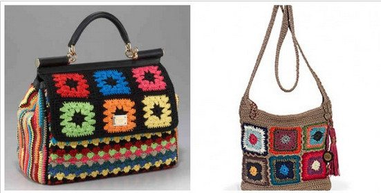 designer granny square bags Are You Dolce and Gabbana or The Sak Crochet?