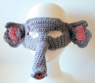 elephant mask crochet 400x351 Hot Crochet Link Love From The Week