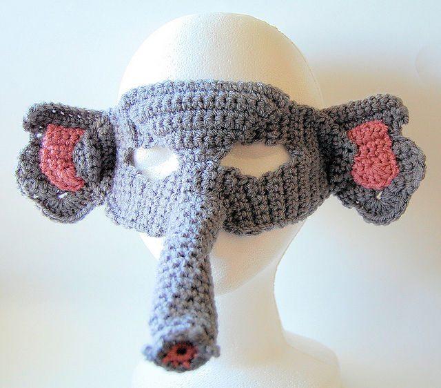 elephant mask crochet