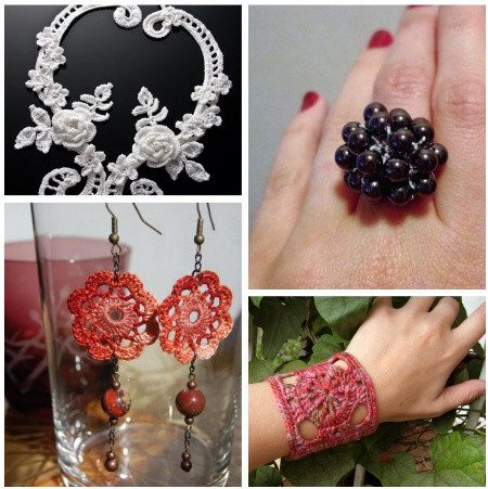 Post image for Crochet Jewelry Ideas for Christmas Including 10 Free Crochet Patterns