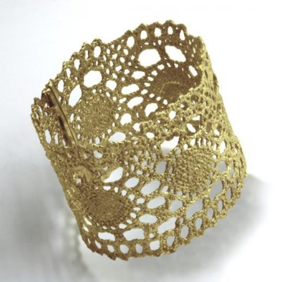 gold crochet bracelet 400x400 Crochet Jewelry Ideas for Christmas Including 10 Free Crochet Patterns