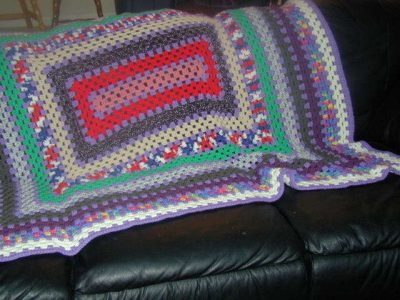 granny rectangle blanket 400x300 Where Did The Name Granny Square Afghan Come From? (+ 5 Unique Crochet Grannyghan Patterns)