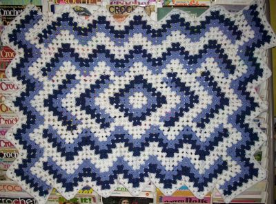 granny square ripple blanket 400x295 Where Did The Name Granny Square Afghan Come From? (+ 5 Unique Crochet Grannyghan Patterns)