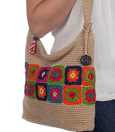 granny square sak handbag 20 Years of Crochet in The Sak Store
