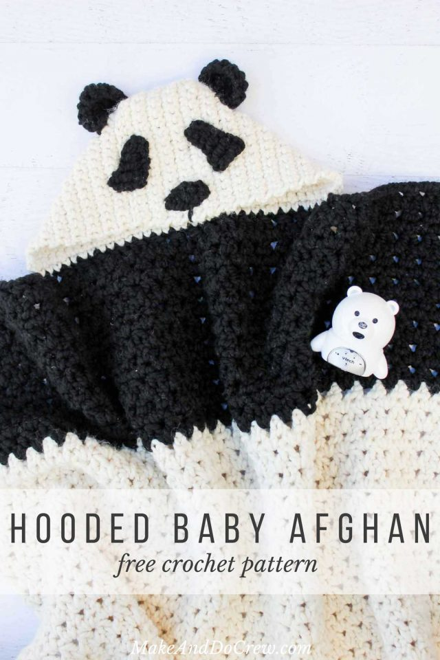 hooded crochet animal baby blanket free pattern