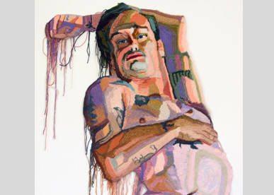 portrait de JO hamilton au crochet