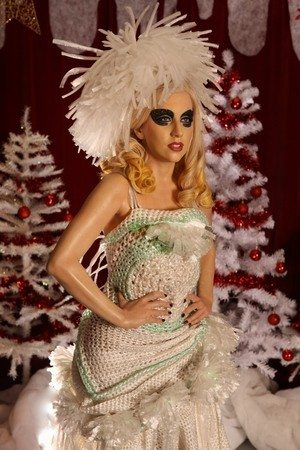 lady gaga crochet dress