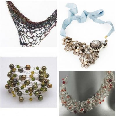 luxury crochet jewelry 400x402 Then and Now in Crochet (11/18   11/24)