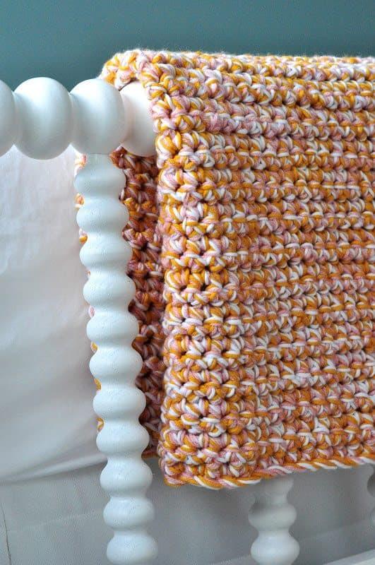 multistrand cobertor crochet do bebê padrão livre