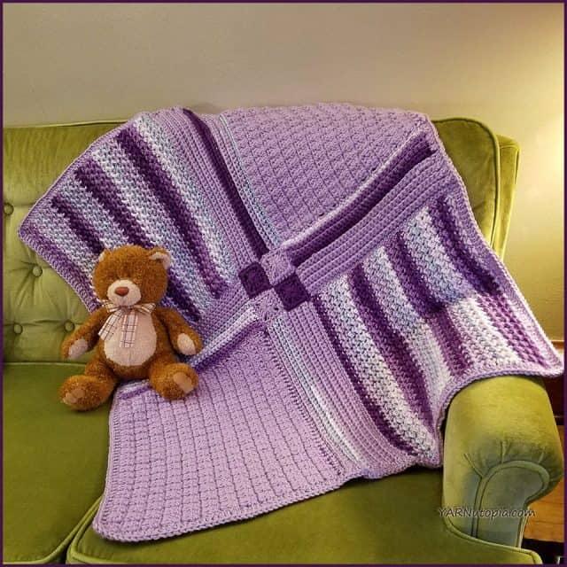 patchwork crochet cobertor do bebê padrão livre