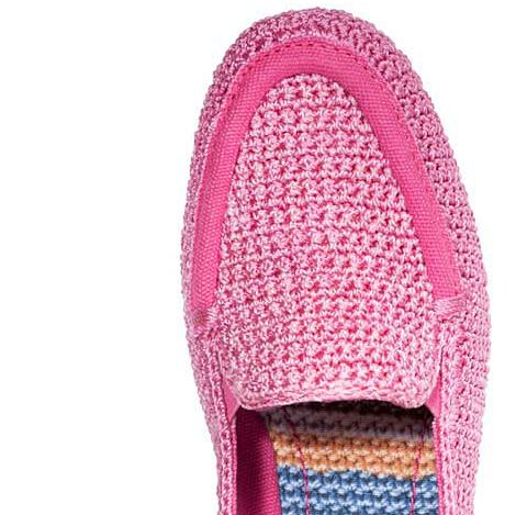 pink sak crochet shoes 20 Years of Crochet in The Sak Store
