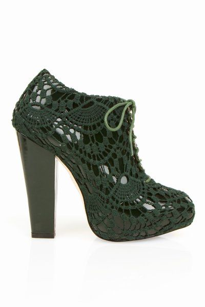 rodarte crochet shoes Designer Crochet: Rodarte