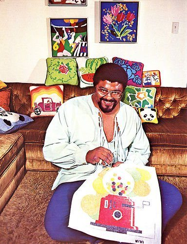 rosey grier at work Unique 1970s Crocheter: Pro Football Player Rosey Grier