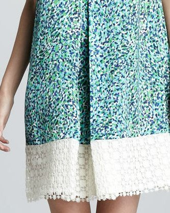 sachin + babi crochet hem dress Sachin + Babi Crochet