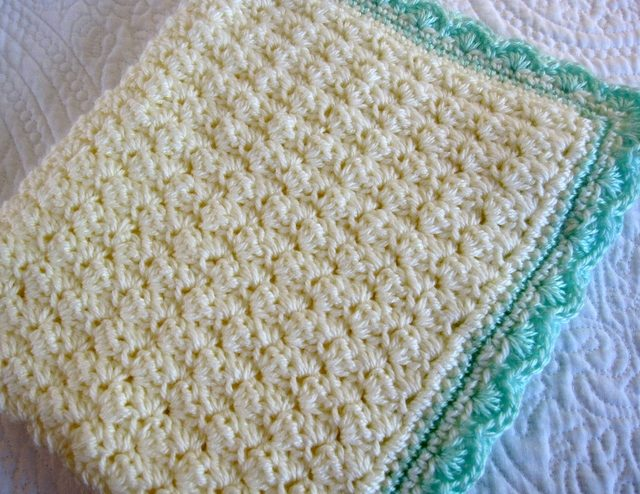 Shell stitch crochet baby blanket free pattern
