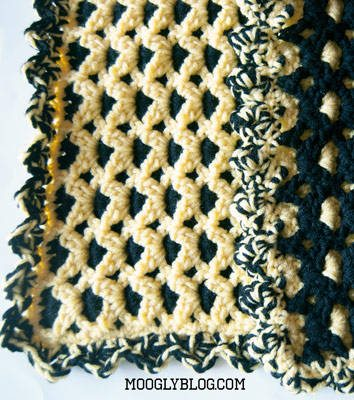 team colors crochet baby blanket free pattern
