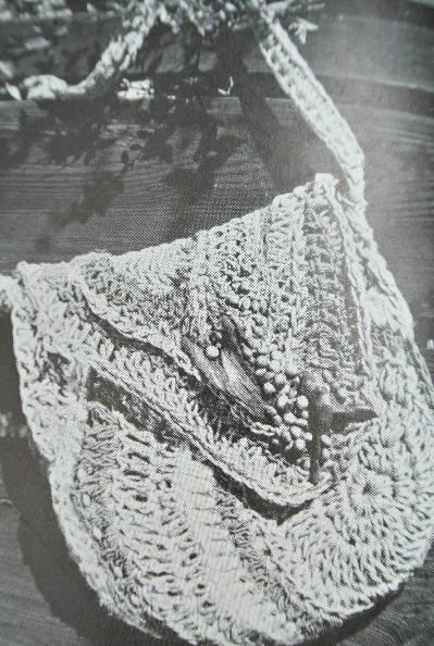1970s jute crochet bag