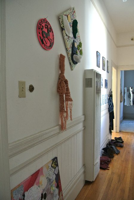apartment hallway left side Welcome to My Crochet Covered Home (Photo Tour)