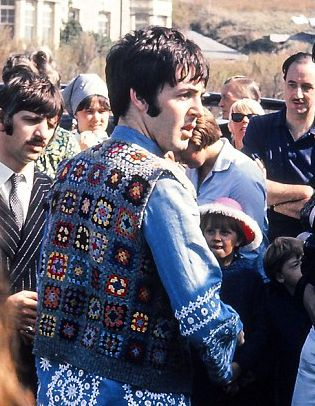 beatles granny square vest