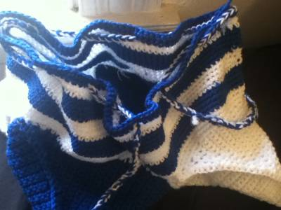 blue and white crochet bag Then and Now in Crochet (12/16   12/31)