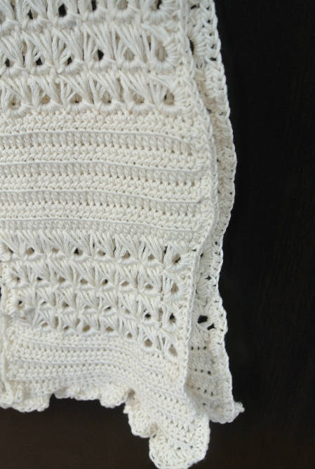 broomstick lace crochet white My New Scarf: Broomstick Lace Cotton