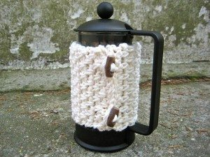 crochet coffee cozy 20 Free Patterns for One Skein Projects You Can Complete Before Christmas